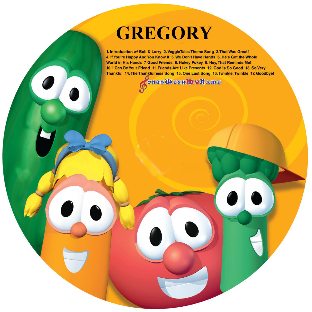 SING ALONG WITH VEGGIE TALES Vol 1 - NAME PERSONALIZED CHILDREN - CD DISK & DIGITAL MP3